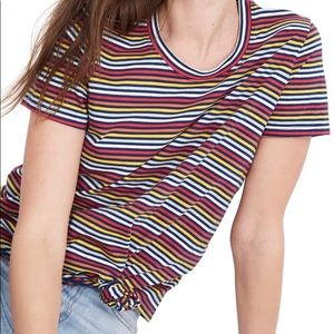 Madewell knot front tee striped small